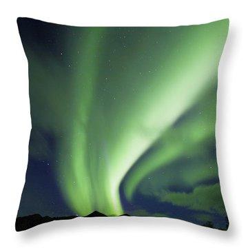 Aurora Borealis, Tombstone Territorial Throw Pillow by John Sylvester