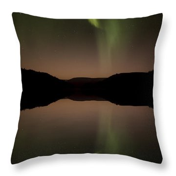 Aurora Reflection Throw Pillow
