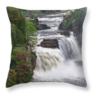 Ausable Chasm 5172 Throw Pillow by Guy Whiteley