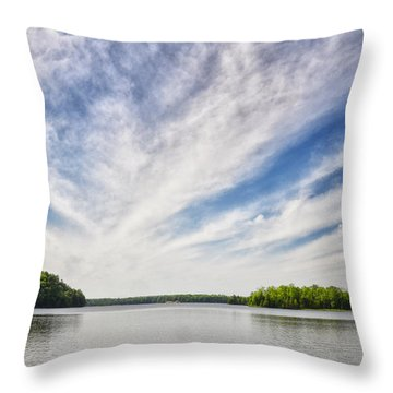 Ausable River On A Summers Day Throw Pillow