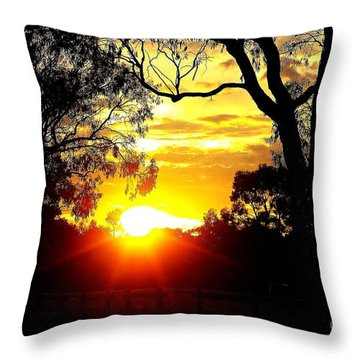Throw Pillow featuring the photograph Aussie Sunset by Blair Stuart