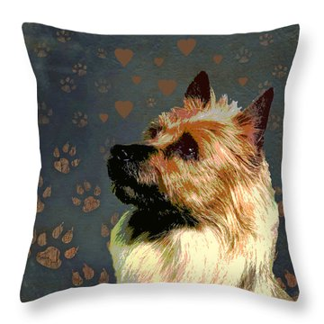 Australian Terrier Throw Pillow by One Rude Dawg Orcutt