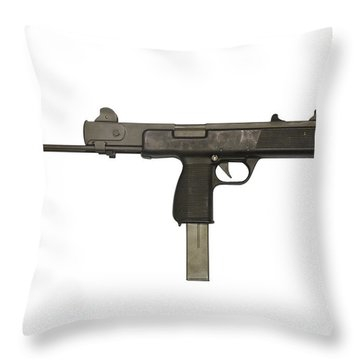 Austrian 9mm Steyr Mpi 81 Submachine Throw Pillow by Andrew Chittock