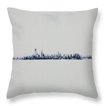 Autum Skyline Throw Pillow