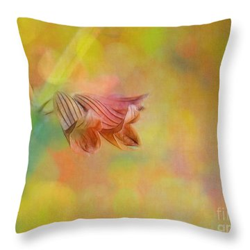 Autumn . . . Gently Throw Pillow by Judi Bagwell