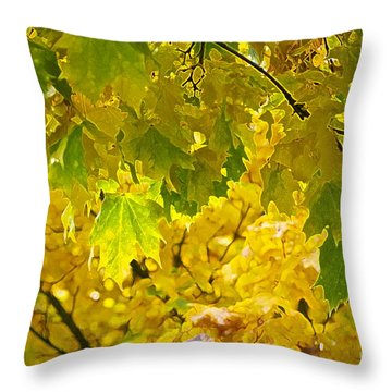 Autumn - Mellow Time Throw Pillow by Gwyn Newcombe