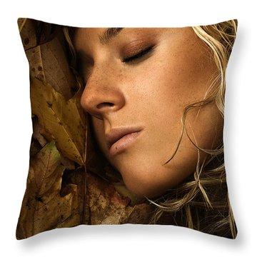 Autumn 04 Throw Pillow by Silvio Schoisswohl