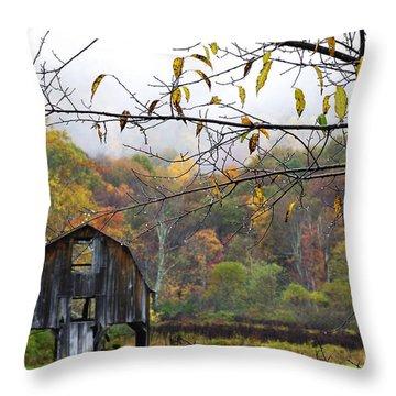 Autumn Along Tioga Road Throw Pillow by Thomas R Fletcher