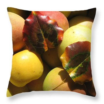 Autumn Apple Afternoon Throw Pillow