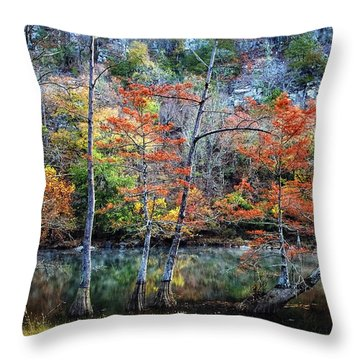 Autumn At Beaver's Bend Throw Pillow by Tamyra Ayles