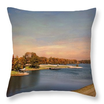 Autumn At Lake Graham 2 Throw Pillow by Jai Johnson