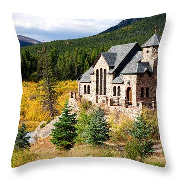 Throw Pillow featuring the photograph Autumn At St. Malo  by Jim Garrison