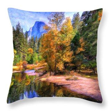 Autumn At Yosemite Throw Pillow by Dominic Piperata