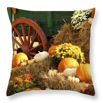 Autumn Bounty Vertical Throw Pillow by Kathy Clark