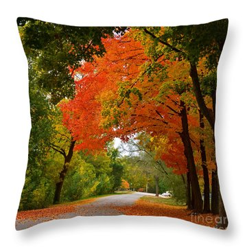 Autumn Canopy Throw Pillow by Sue Stefanowicz