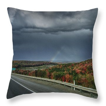 Throw Pillow featuring the photograph Autumn Colors In Pennsylvania by Maciek Froncisz