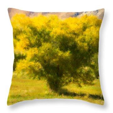 Autumn Cottonwood Throw Pillow