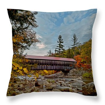 Throw Pillow featuring the photograph Autumn Crossing by Richard Bean