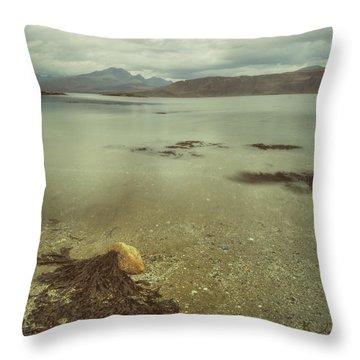 Autumn Day At The Seaside Throw Pillow