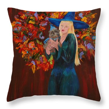 Autumn Fantasy Throw Pillow by Gail Daley