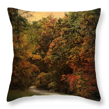 Autumn Forest 1 Throw Pillow by Jai Johnson