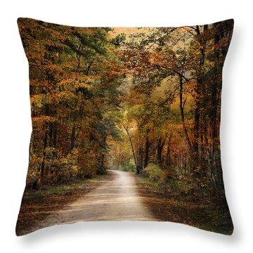 Autumn Forest 3 Throw Pillow by Jai Johnson