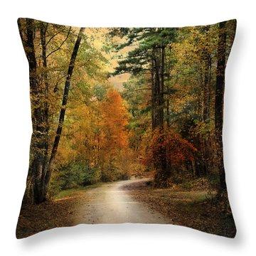 Autumn Forest 4 Throw Pillow by Jai Johnson