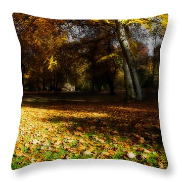 Autumn Throw Pillow by Hannes Cmarits