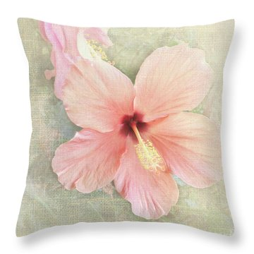 Autumn Hibiscus Throw Pillow