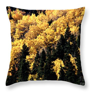Autumn In Colorado Painting Throw Pillow