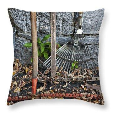 Autumn In The Garden Throw Pillow