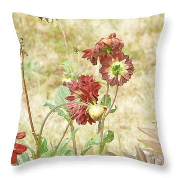 Autumn In The Garden  Throw Pillow by Pamela Patch