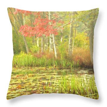 Autumn Is Here Throw Pillow by Karol Livote