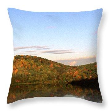 Autumn Lake Panoramic Throw Pillow by Thomas R Fletcher