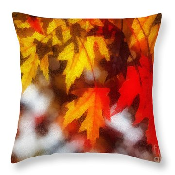 Autumn Leaves Throw Pillow by Billie-Jo Miller