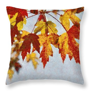 Autumn Leaves IIi Throw Pillow by Billie-Jo Miller