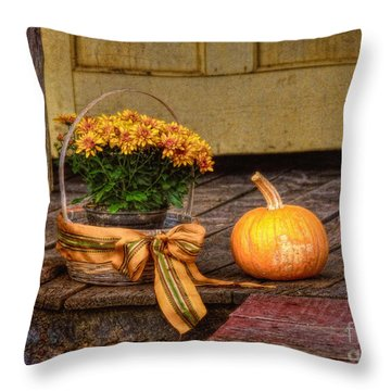 Autumn Throw Pillow by Lois Bryan