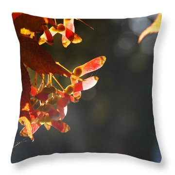 Autumn Maple Throw Pillow by Mick Anderson