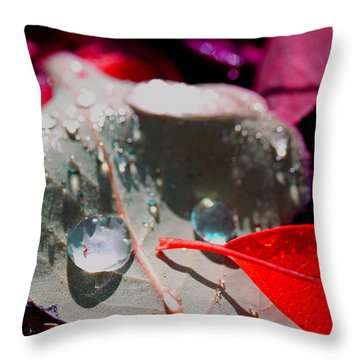 Autumn Menagerie  Throw Pillow by Marie Jamieson