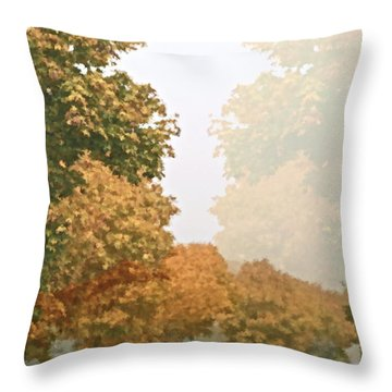 Autumn Mist Throw Pillow by Gwyn Newcombe