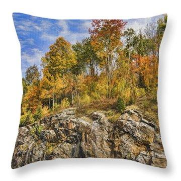 Autumn On The Rocks Throw Pillow by Jo-Anne Gazo-McKim