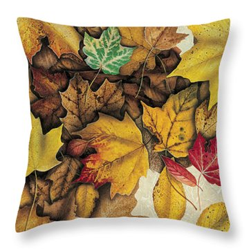 Autumn Splendor Throw Pillow by JQ Licensing