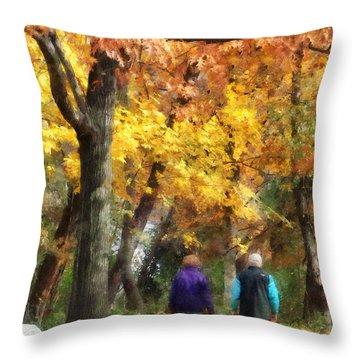 Autumn Stroll Throw Pillow by Susan Savad