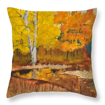 Autumn Tranquility Throw Pillow by Cynthia Morgan
