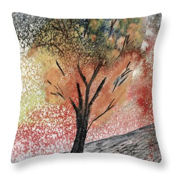 Autumn Tree No. 1 Throw Pillow