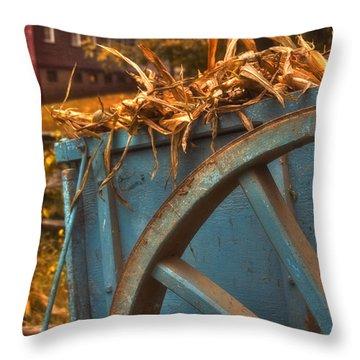 Autumn Wagon Throw Pillow by Joann Vitali