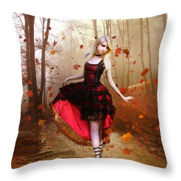 Autumn Waltz Throw Pillow by Mary Hood