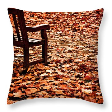 Autumnal Colours Throw Pillow