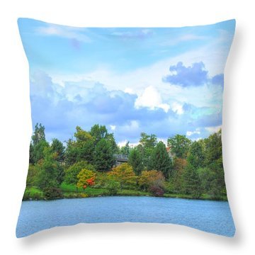 Throw Pillow featuring the photograph Autumn's Beauty At Hoyt Lake by Michael Frank Jr