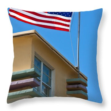 Avalon Hotel In Miami Beach Throw Pillow